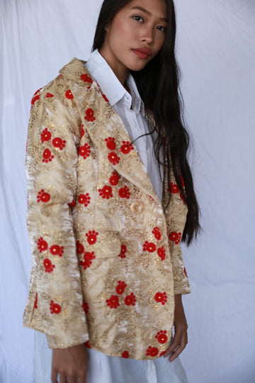 JACKET FRIDA IN EMBROIDERED SILK MOMO NEW YORK