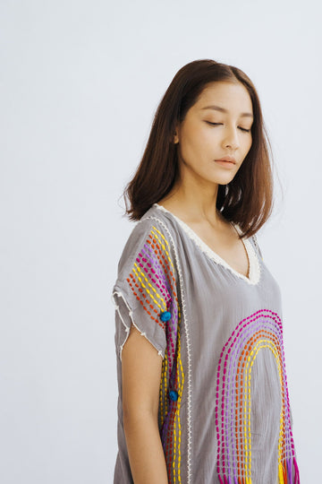 KAFTAN DRESS NUTSU MOMO NEW YORK