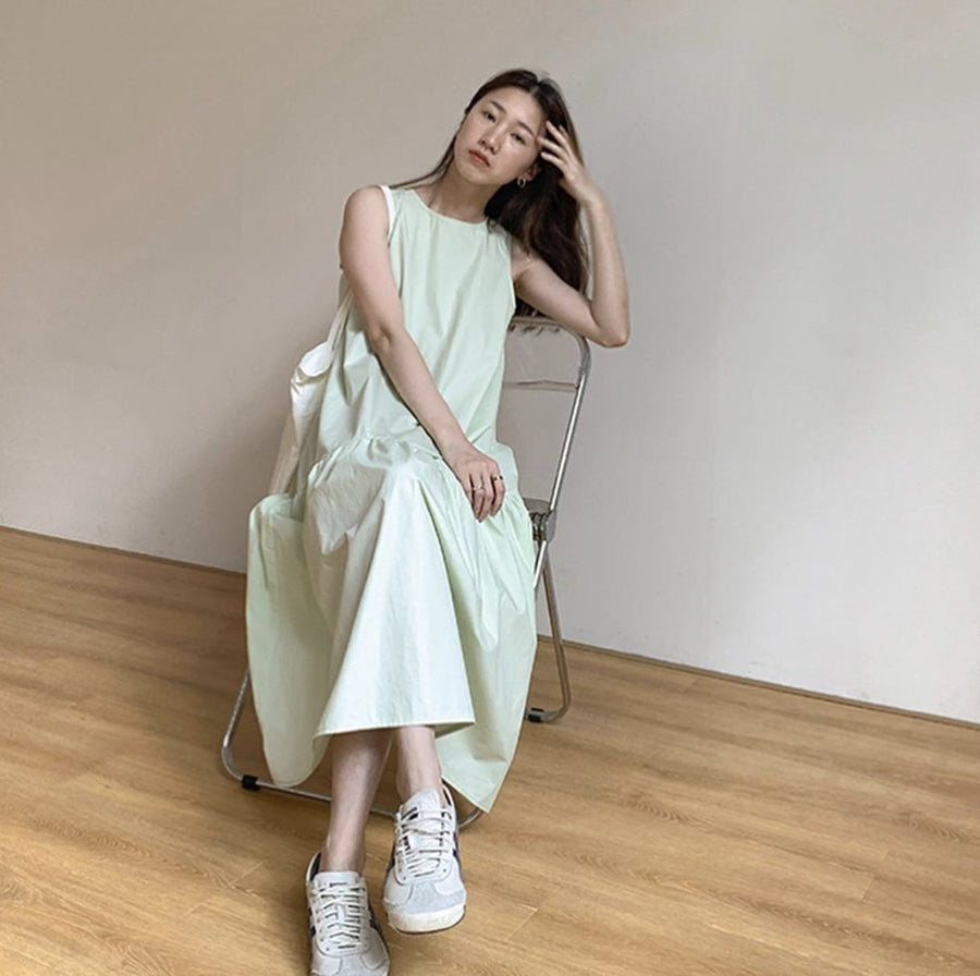 ONE SIZE SLEEVELESS COTTON DRESS RACHEL MOMO NEW YORK