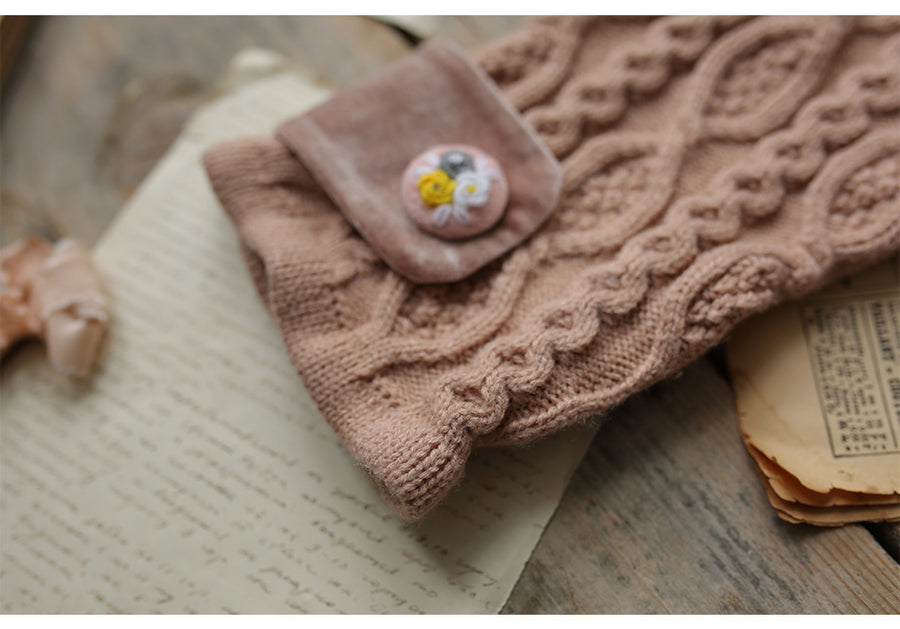 LYNETTE'S CHINOISERIE Spring Winter New Original Design Women Mori Girls Embroidery Woolen Knitted Sweaters Cardigans