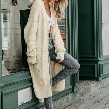 Free People Solid long sweater cardigan Long sleeve streetwear outwear jumper coat