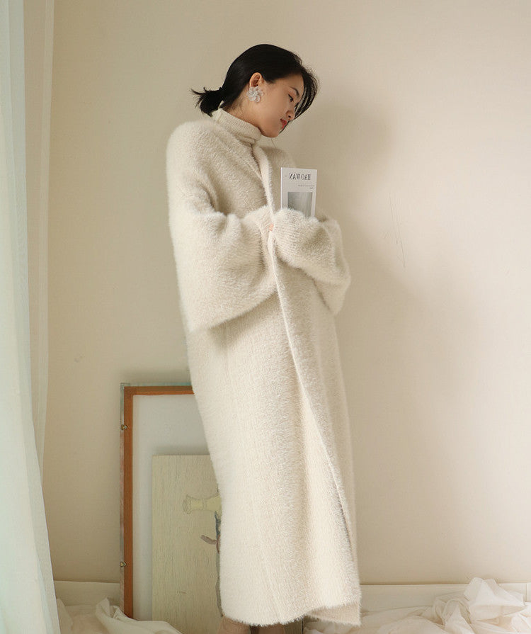 Soft Comfy Oversized Warm Faux Mink Fur Velvet Overcoat