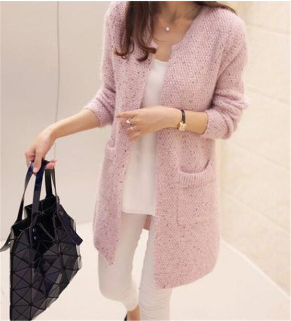 Long Cardigan Sweater Coat Long Sleeve Crochet Jacket