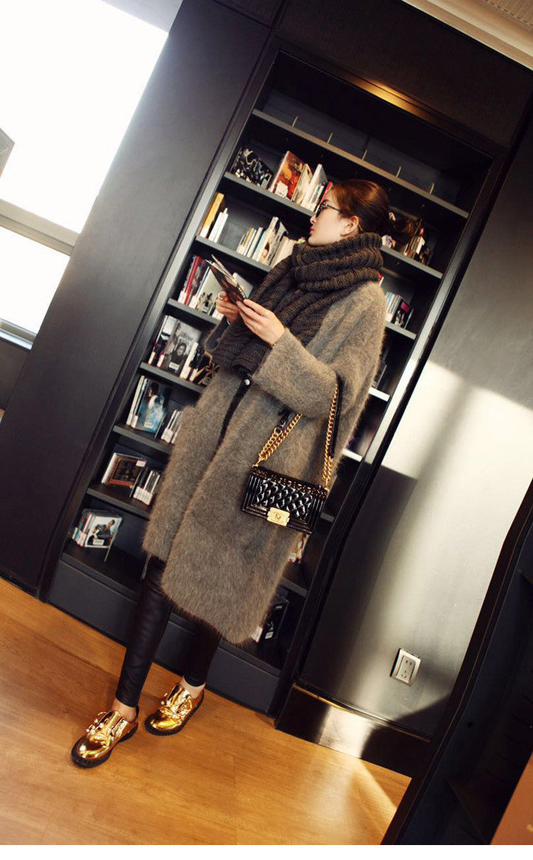 Genuine mink cashmere sweater women pure cashmere cardigan knitted