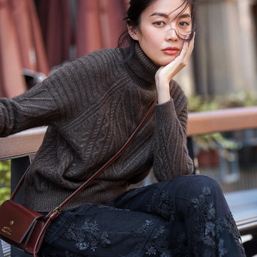 Velvet Turtleneck Pullovers Winter Thick Warm Sweater Knitted Sweaters