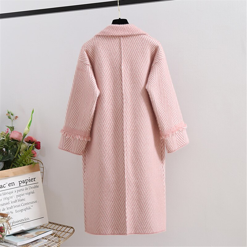 Mink Cashmere Long Cardigan Coat Sabine