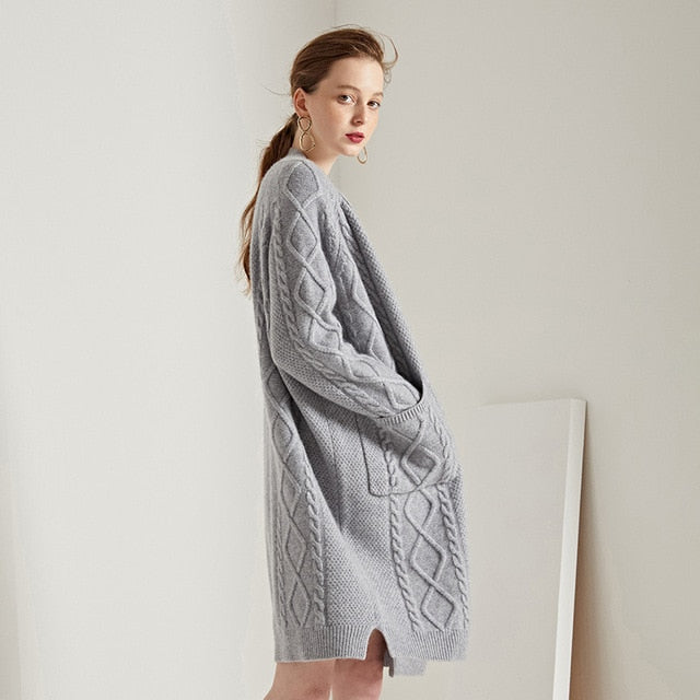 Cashmere Cardigan Loose  Knitting Sweater