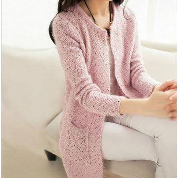 Casual Long Sleeve Knitted Cardigan Crochet Ladies Sweaters Fashion Bohemian Boho Chic