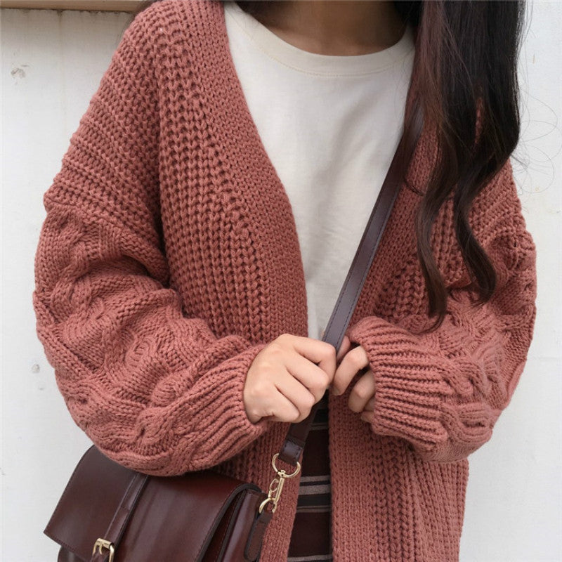 Knitted Cardigan Loose Knitted