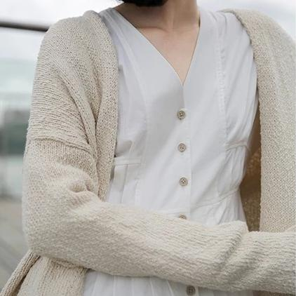 Loose Lazy Style All-match Soft Cotton Cardigans Sweater