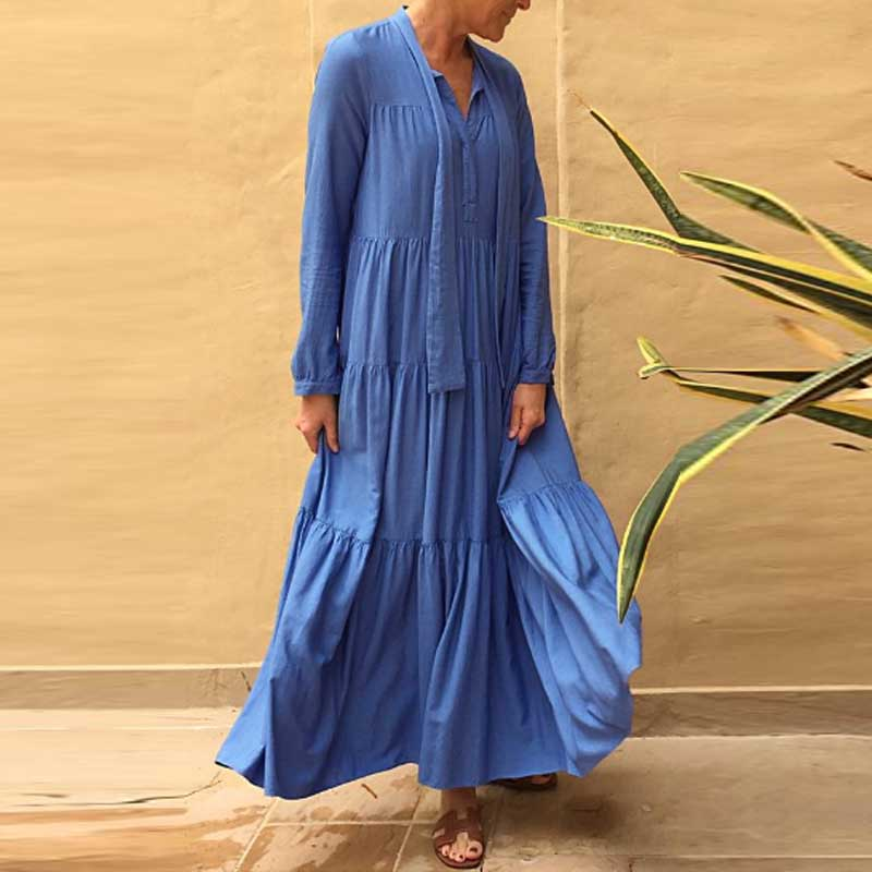 Boho Chic Elegant Ruffle Dress Free People