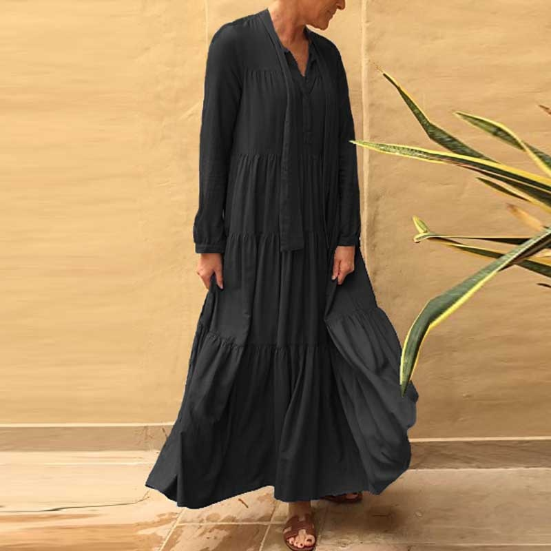 Boho Chic Elegant Ruffle Maxi Dress  Net-A-Porter Cindy
