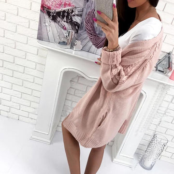 Sweaters cardigans twist pink long jacket