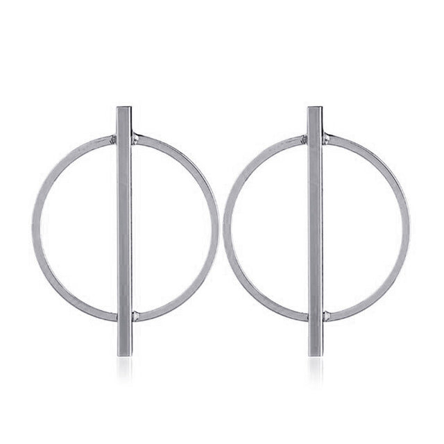 Silver gold big hoop earrings  hoops huggie circle orecchini cerchio boucles