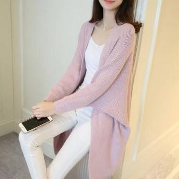 Long Cardigan Open Stitch Knitting Sweater Oversize