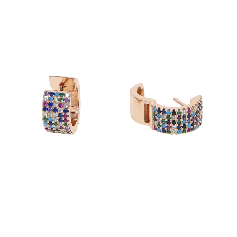 Rose gold color fashion jewelry Bohemia Boho colorful  micro pave cubic