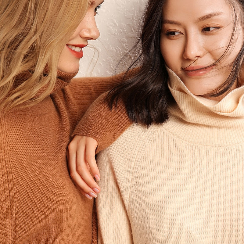 Jumpers Double Collar Turtleneck Sweaters Ruth