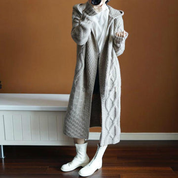 Pocket Cashmere Cardigan Long Sweater Coat