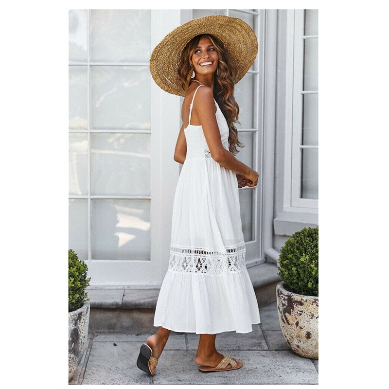 Summer Maxi Dress Sexy Boho Long Evening Party Beach Bohemian Dress