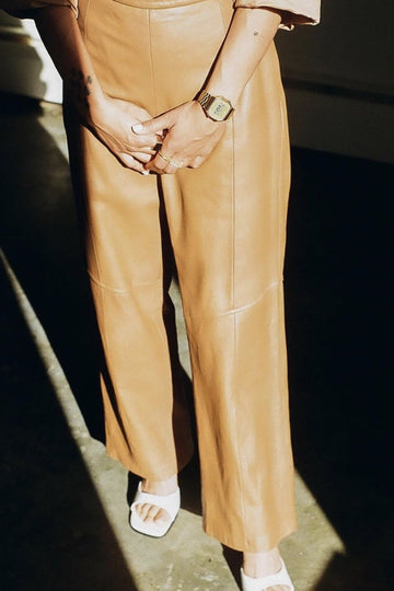 VINTAGE LEATHER PANTS SAAVAHN MOMO NEW YORK