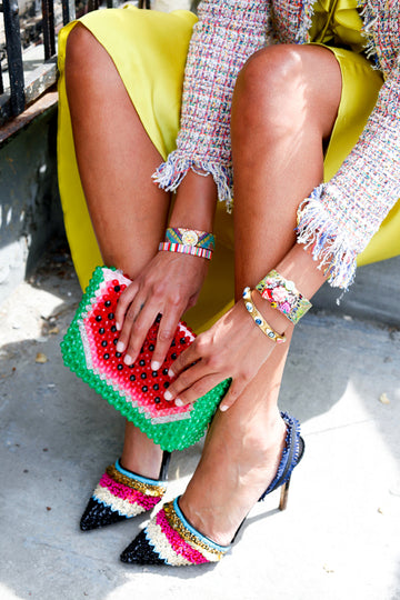Beaded Clutch Shoulder Kiki Watermelon