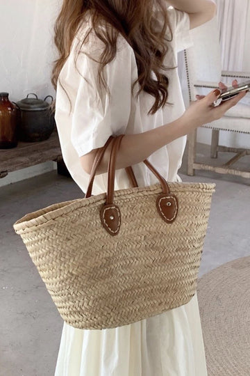 WOVEN SUMMER SHOPPING/  BEACH BASKET LYDIA MOMO NEW YORK