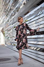 Charlene Dress in Black Floral