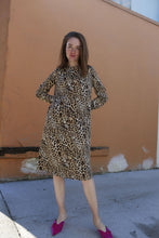 Alexandra Dress in Brown Cheetah