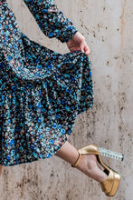 April Dress in Vintage Blue