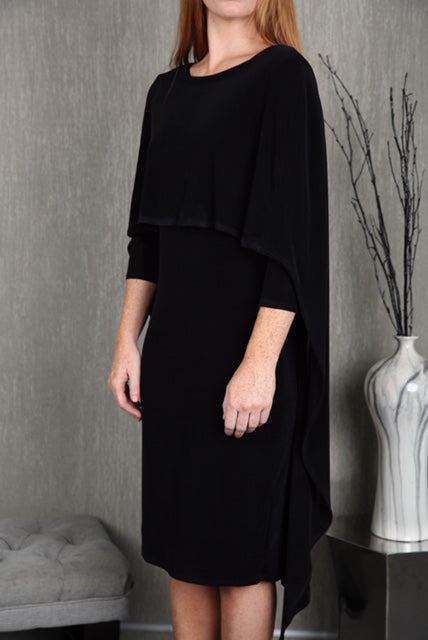 Judith Cape Dress In Black Raju Official