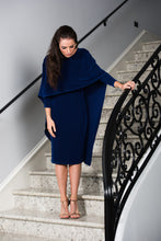 Judith Cape Dress in Blue