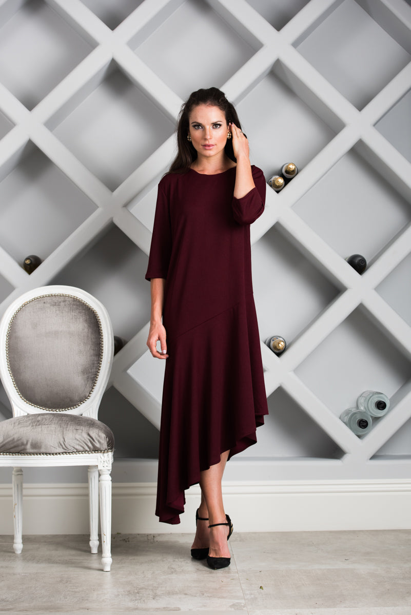 Bailey Dress in Merlot