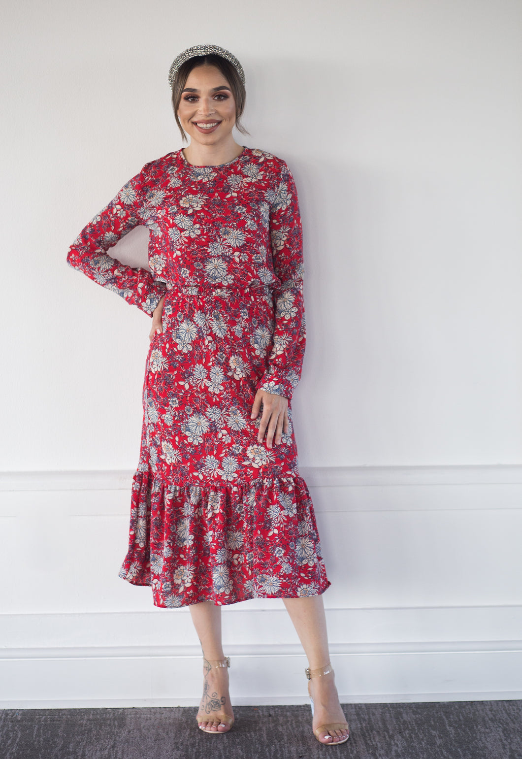 Lucy in Red Floral