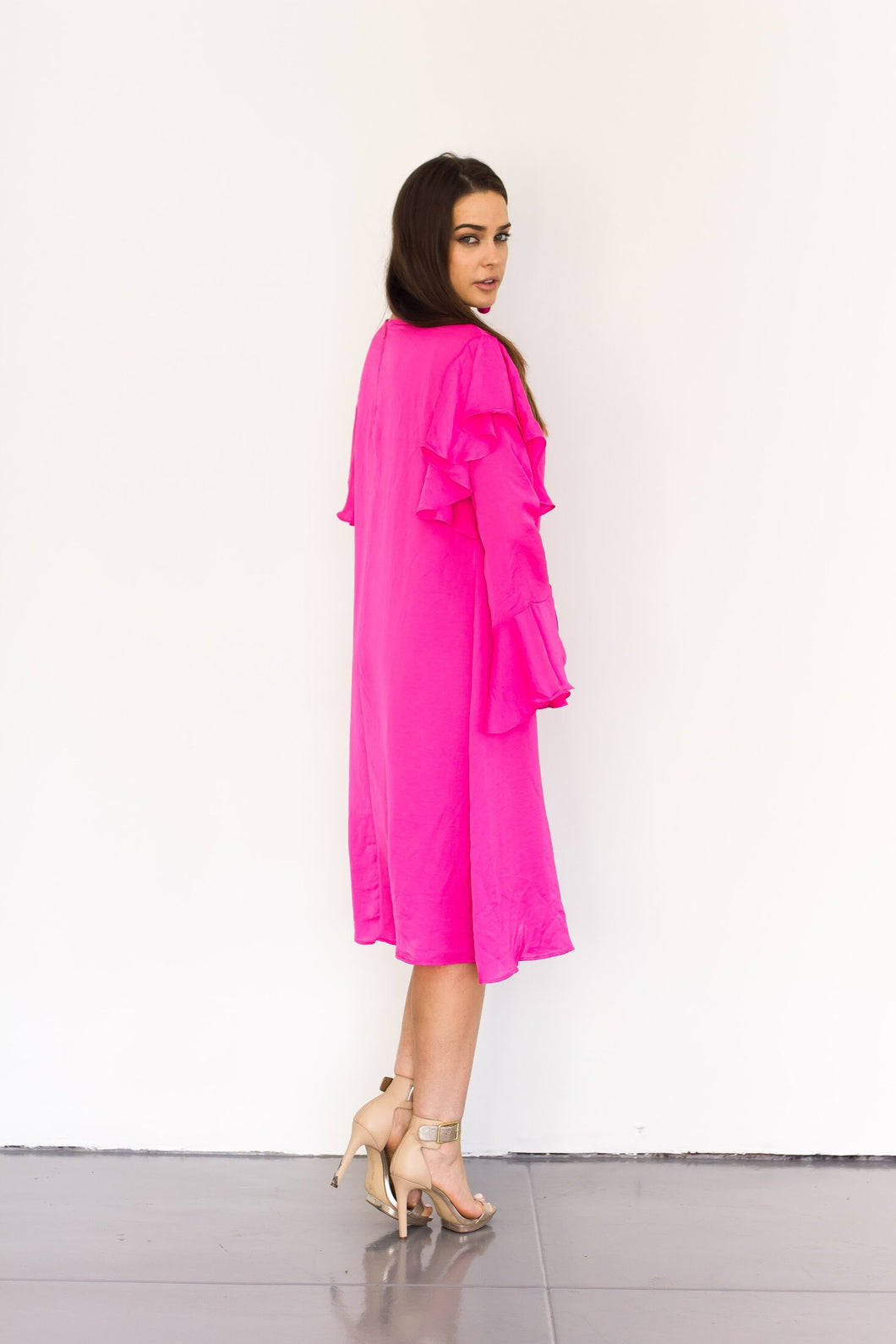 Charlene Dress in Hot Pink