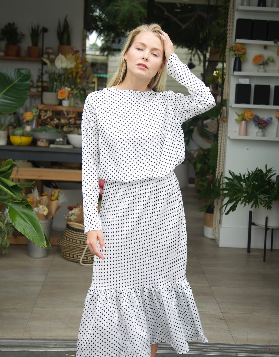 Lucy Polka Dot in White