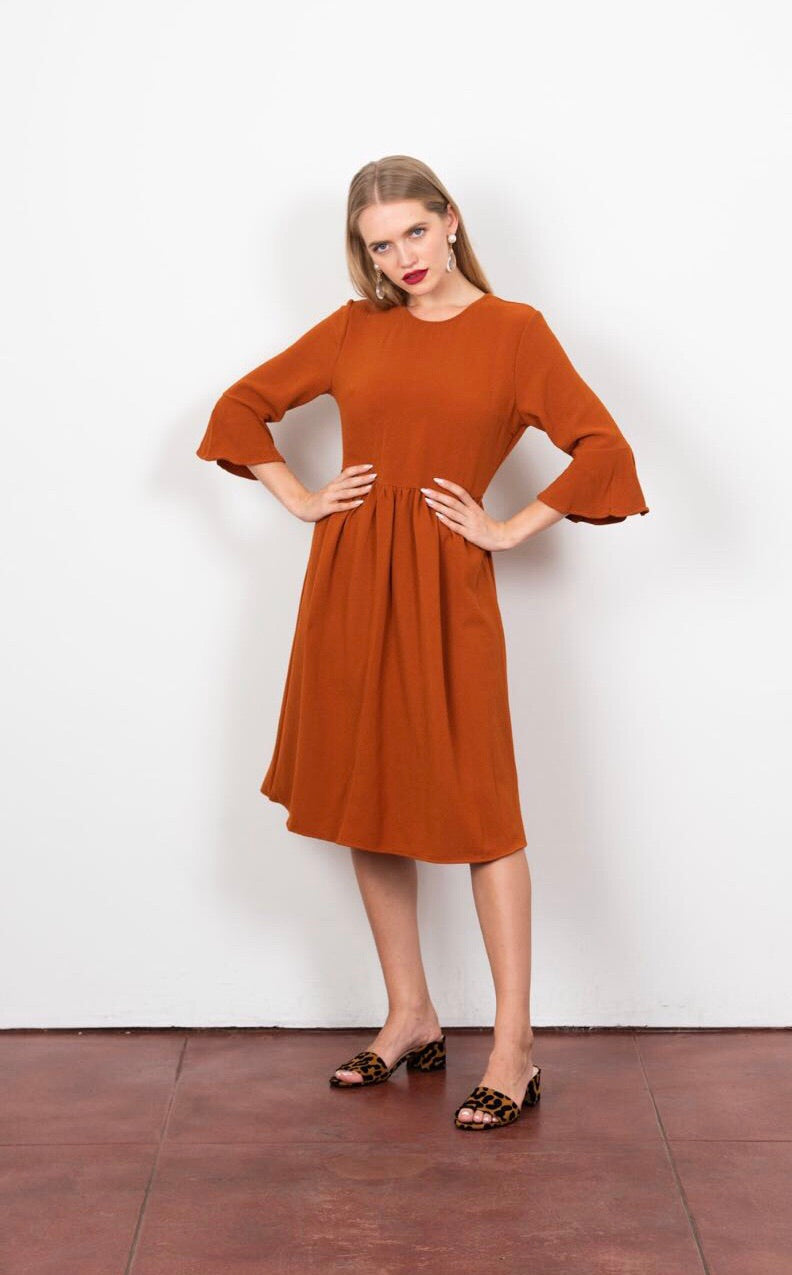 Bina Dress in Pumpkin Spice