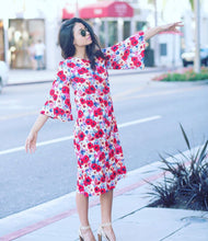 Blossom Dress in rose print
