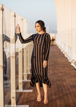 Alia in Navy with Stripe