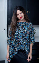 Katy Top in blue floral