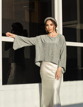 Rebecca Crop Top in silver Mint