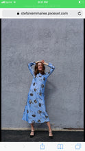 Elle Dress in blue floral