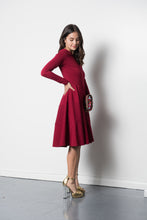 Daisy Dress in Merlot