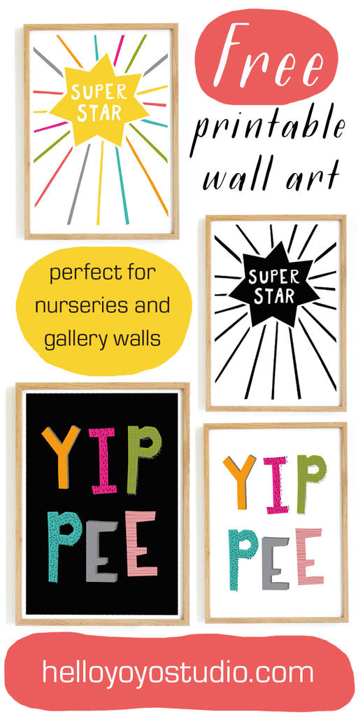 Free Printable Wall Art, printables for nurseries and gallery walls.