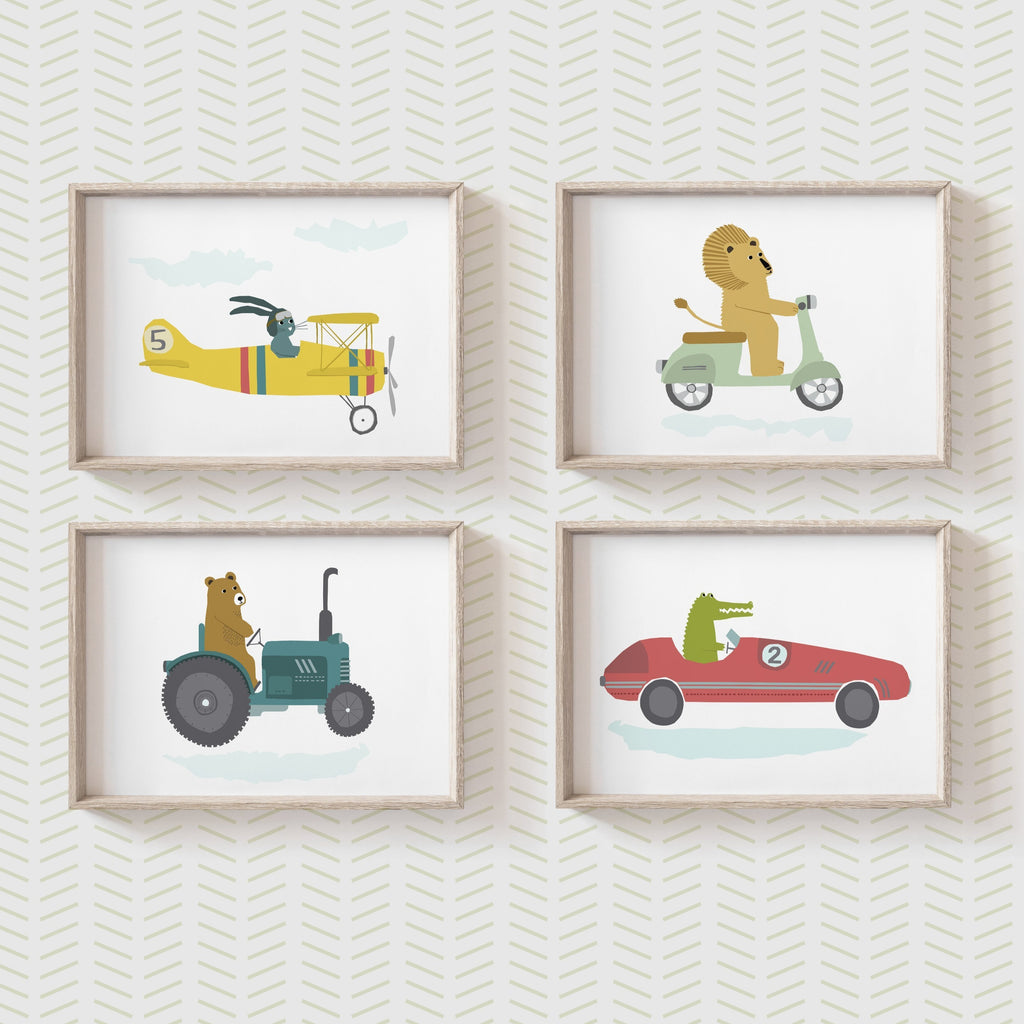 Set of Four Vehicle prints