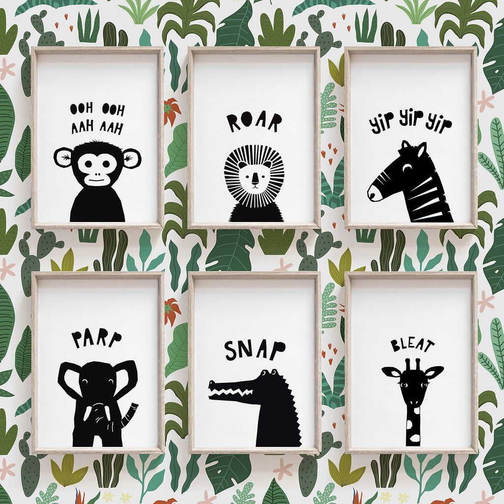Safari Animal Set of Six