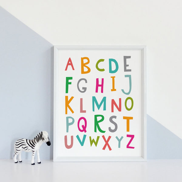 Alphabet Print in Capital Letters