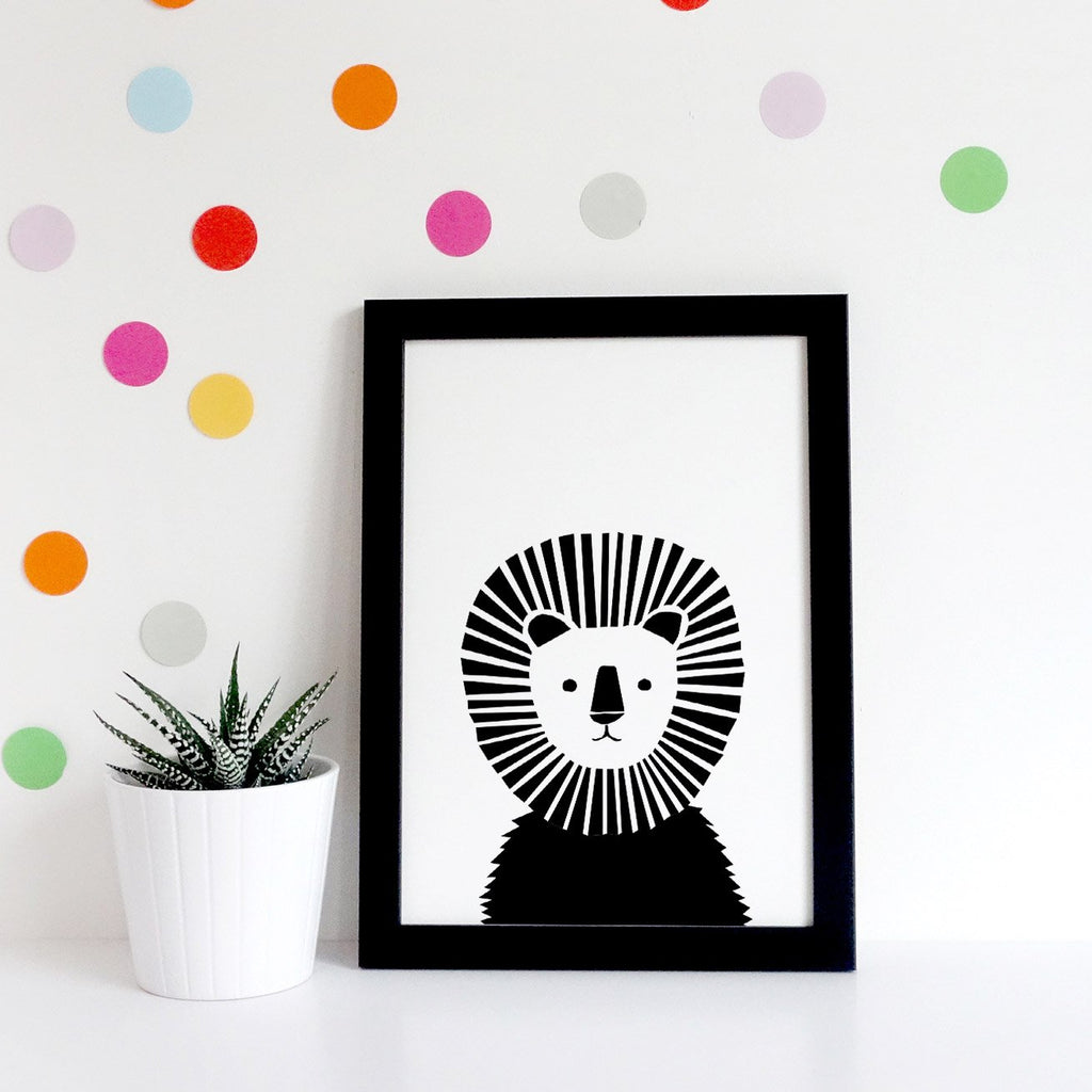 Lion Safari Print