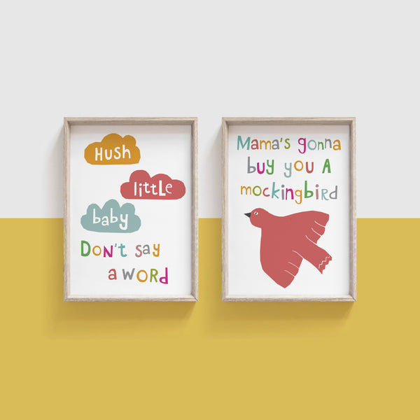 Hush Little Baby Set of 2 prints