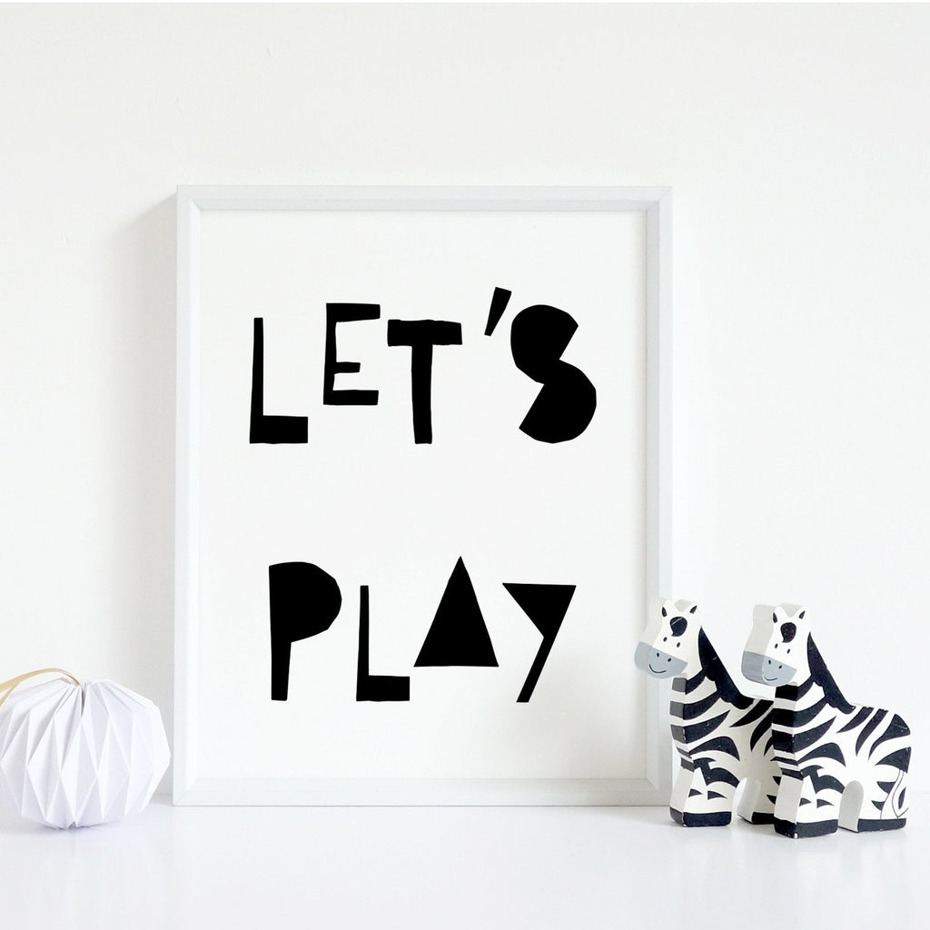 Lets Play Typography Print