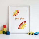 Personalised Retro Rainbow Print